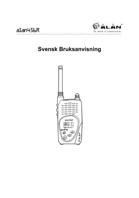 Alan 456r user manual