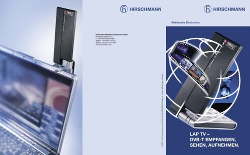 LAP TV – DVB-T EMPFANGEN, SEHEN, AUFNEHMEN. - Triax