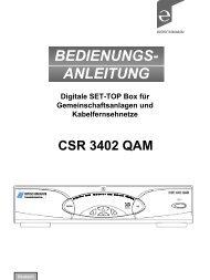 BEDIENUNGS- ANLEITUNG - Triax