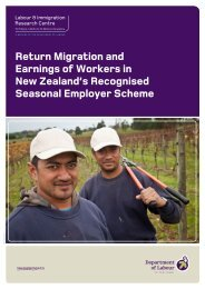 Return Migration and Earnings of Workers in New Zealand