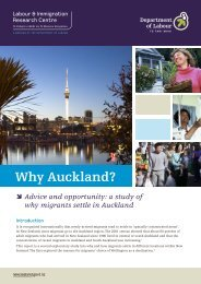 Why Auckland? - Department of Labour