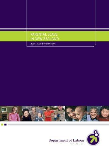 Parental Leave in New Zealand 2005/2006 Evaluation [pdf 68 ...
