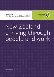 Department of Labour Annual Report for the year ended 30 June 2012