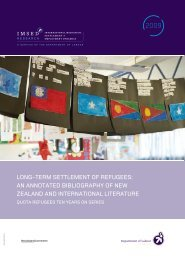 Long-Term Settlement of Refugees: An Annotated Bibliography of ...