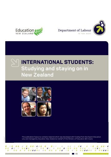 International students: Studying and staying on in New Zealand [pdf ...