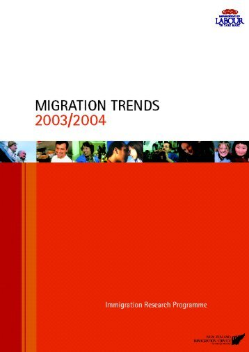Migration Trends – 2003/2004 i - Department of Labour