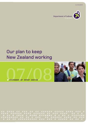 Our plan to keep New Zealand working - Department of Labour