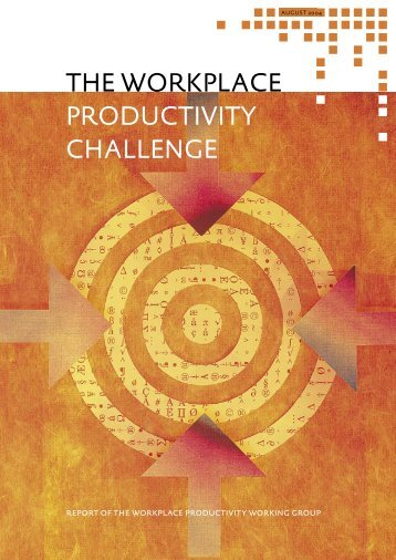 The Workplace Productivity Challenge - Department of Labour