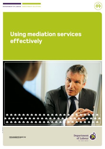 Using mediation services effectively - Department of Labour