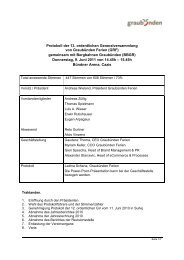 Protokoll der 13. ordentlichen Generalversammlung ... - Graubünden