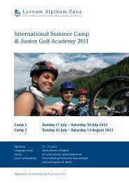 International Summer Camp & Junior Golf Academy 2011