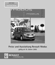 Preise und Ausstattung Renault Modus gültig ab 10 ... - Motorline.cc