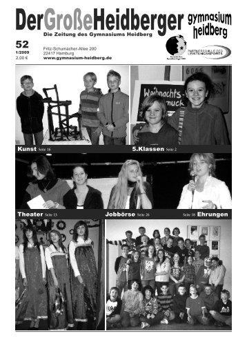 Ausgabe 52 (Januar 2009) - Gymnasium Heidberg