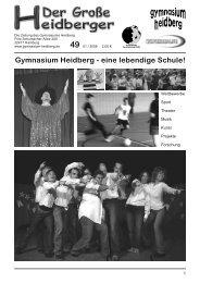 Gymnasium Heidberg - eine lebendige Schule!