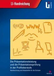 LI-Handreichung - Landesinstitut für Lehrerbildung und ...