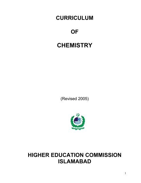 4-Year BS(Chemistry) Program - Higher Education Commission