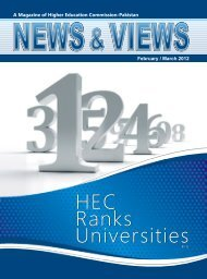 HEC Ranks Universities HEC Ranks Universities - Higher Education ...
