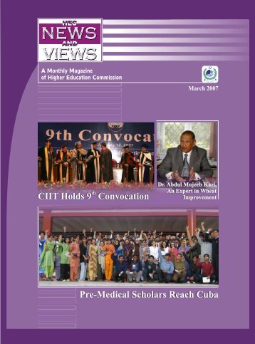 CIIT Holds 9 Convocation Pre-Medical Scholars Reach Cuba