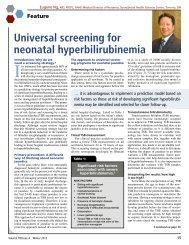 Universal screening for neonatal hyperbilirubinemia