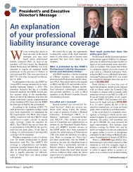 An explanation of your professional liability insurance coverage
