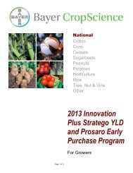 2013 Innovation Plus Stratego YLD-Prosaro Early Purchase Program