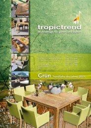 tropictrend wohndesign für garten und balkon Grün Trendfarbe des ...