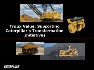 This is Caterpillar presentation outline - Troux