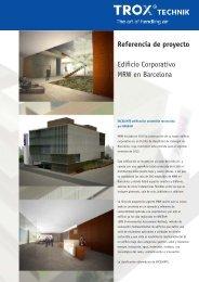 Referencia de proyecto Edificio Corporativo MRW en Barcelona - Trox