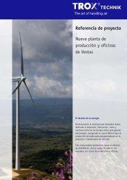 Nueva planta de producción y oficinas de Vestas - TROX