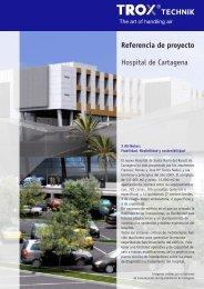 Referencia de proyecto Hospital de Cartagena - Trox