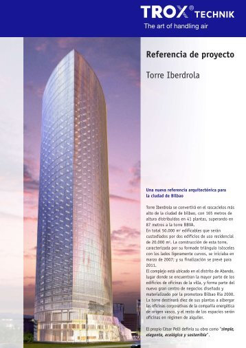 Referencia de proyecto Torre Iberdrola - Trox