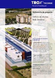 Referencia de proyecto Edificio de oficinas Sede Iberostar - Trox