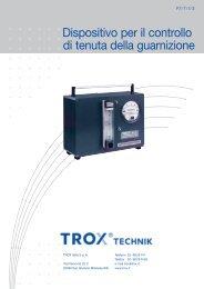 Dispositivo per il controllo di tenuta della guarnizione - TROX