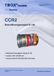 Brann/Branngasspjeld EI 120 CCR2 - TROX Auranor Norge as