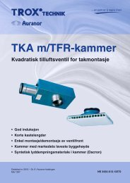 TKA m/TFR kammer – Kapasitet – Lyd - TROX Auranor Norge as