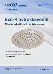 Exit-R avtrekksventil - TROX Auranor Norge as