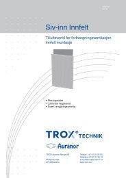 LØV-R Siv-inn Innfelt - TROX Auranor Norge as