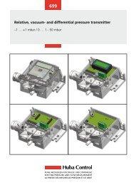 Relative, vacuum- and differential pressure transmitter