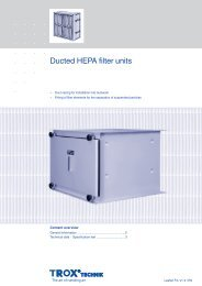 Type F350 Ducted HEPA filter units - TROX