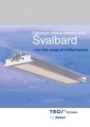 Chilled Beams leaflet 2010 - TROX Auranor Norge as