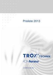 Prisliste 2013 - TROX Auranor Norge as