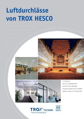 Sonderdruckschrift 11.07 4/1/D/1 Luftdurchlässe von TROX HESCO