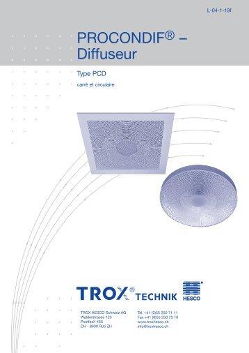 PROCONDIF® – Diffuseur Type PCD - TROX HESCO Schweiz AG