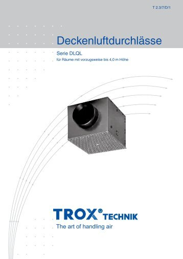 Deckenluftdurchlässe DLQL - Trox