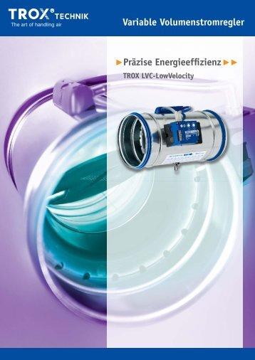 Präzise Energieeffizienz TROX LVC-LowVelocity
