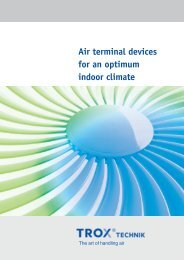 Air terminal devices for an optimum indoor climate - TROX