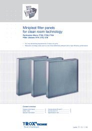 Minipleat filter panels for clean room technology - TROX