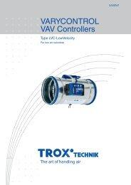 VAV Controllers LVC-LowVelocity - TROX