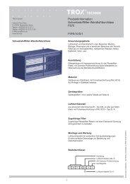 Produktinformation Schwebstofffilter-Wandluftdurchlass F670 - Trox