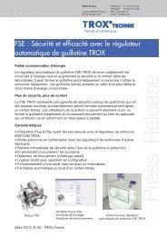 Communiqué de presse FSE : sécurité et efficacité avec le ... - TROX